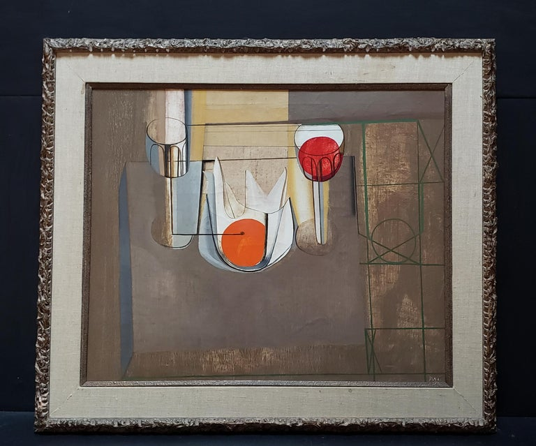 Joseph Mellor Hanson, Still Life with an Orange Oil on Canvas, 1956 For Sale 1