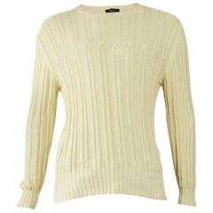 Joseph Men's Cream Cable Knit Sweater