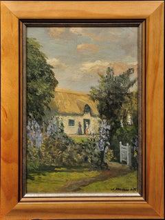 A Breton Cottage Garden, France. Student of Academie Julian & Academie Royale