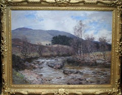 A Moorland Stream Stirling - Scottish Victorian Art Impressionist oil painting