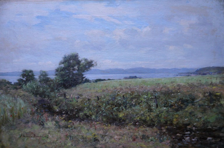 Scottish Coastal View Perthshire - Scottish 19th Century landscape oil painting - Painting by Joseph Morris Henderson