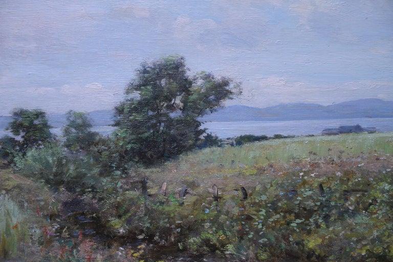 Scottish Coastal View Perthshire - Scottish 19th Century landscape oil painting - Impressionist Painting by Joseph Morris Henderson
