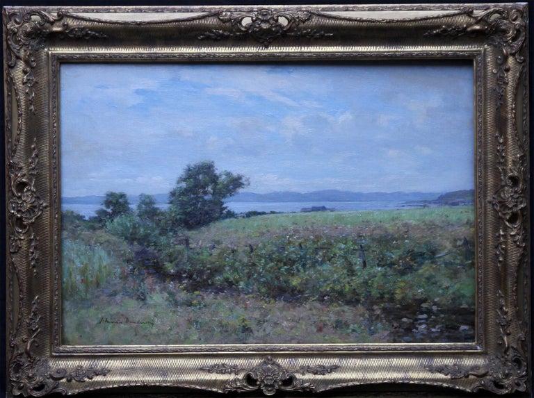 Joseph Morris Henderson Landscape Painting - Scottish Coastal View Perthshire - Scottish 19th Century landscape oil painting