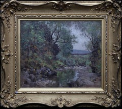 Scottish Impressionist Landscape  Scottish Glasgow artist Edwardian oil painting