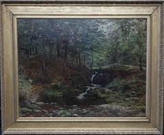 Scottish River Landscape Stirling - Impressionist art 1900 oil painting Scotland