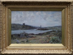 Tabert Castle Loch Fyne Scotland - 19thC Scottish Impressionist art oil painting