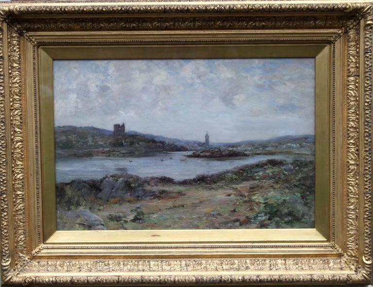 Tabert Castle Loch Fyne Scotland - Scottish Impressionist art oil painting For Sale 8