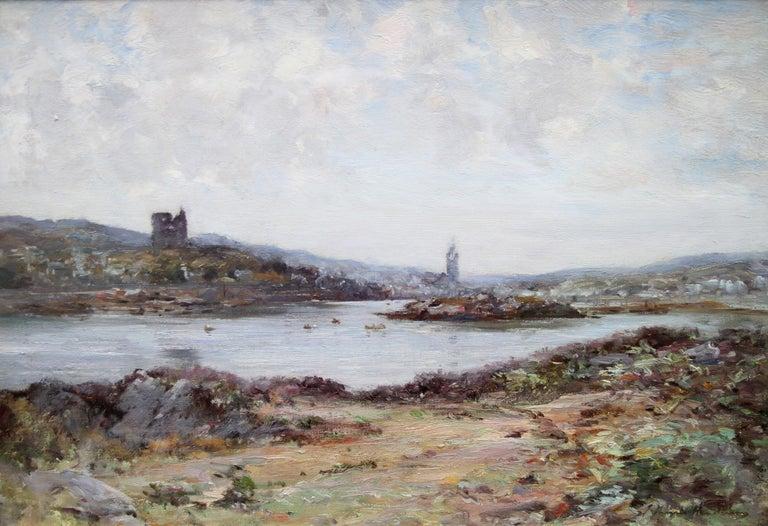 Tabert Castle Loch Fyne Scotland - Scottish Impressionist art oil painting - Painting by Joseph Morris Henderson