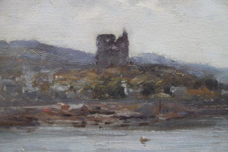 Tabert Castle Loch Fyne Scotland - Scottish Impressionist art oil painting For Sale 1