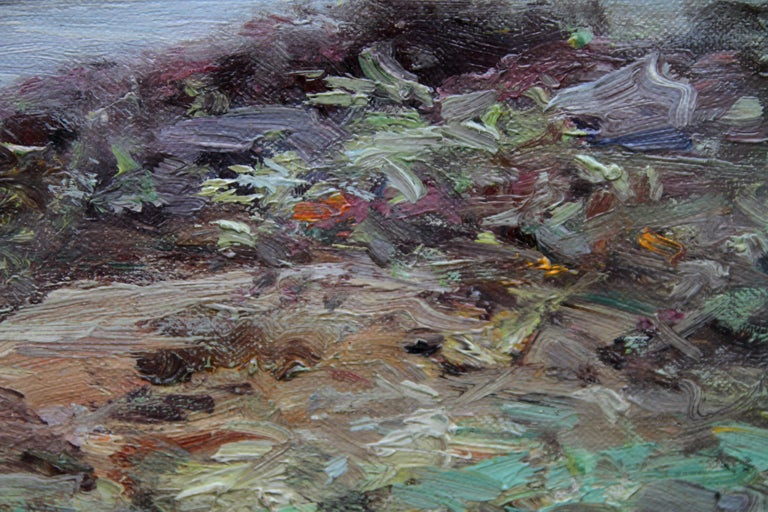 Tabert Castle Loch Fyne Scotland - Scottish Impressionist art oil painting For Sale 2