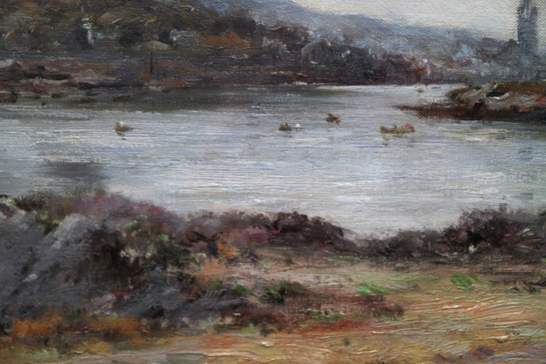 Tabert Castle Loch Fyne Scotland - Scottish Impressionist art oil painting For Sale 4