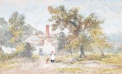 Joseph Murray Ince Welsh Border Cottage Summer 1827 watercolour Wales Georgian