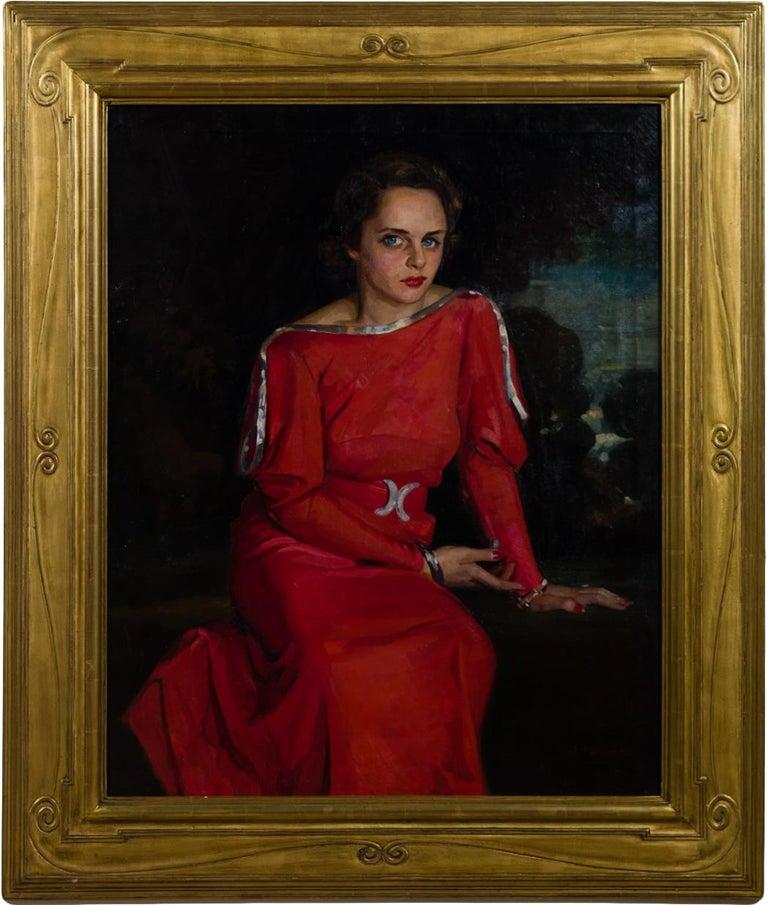 "Joseph Newman Portrait Painting - ""The Red Dress"""
