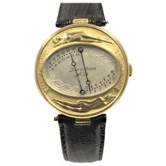 Joseph Op De Beeck Gold Sector Retrograde Wristwatch