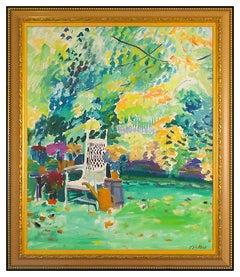 Joseph B. O'Sickey Large Original Painting Oil On Canvas Signed Landscape Framed