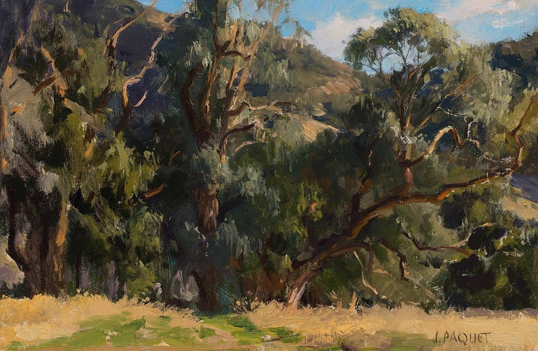 Eucalyptus in White Light - Painting by Joseph Paquet