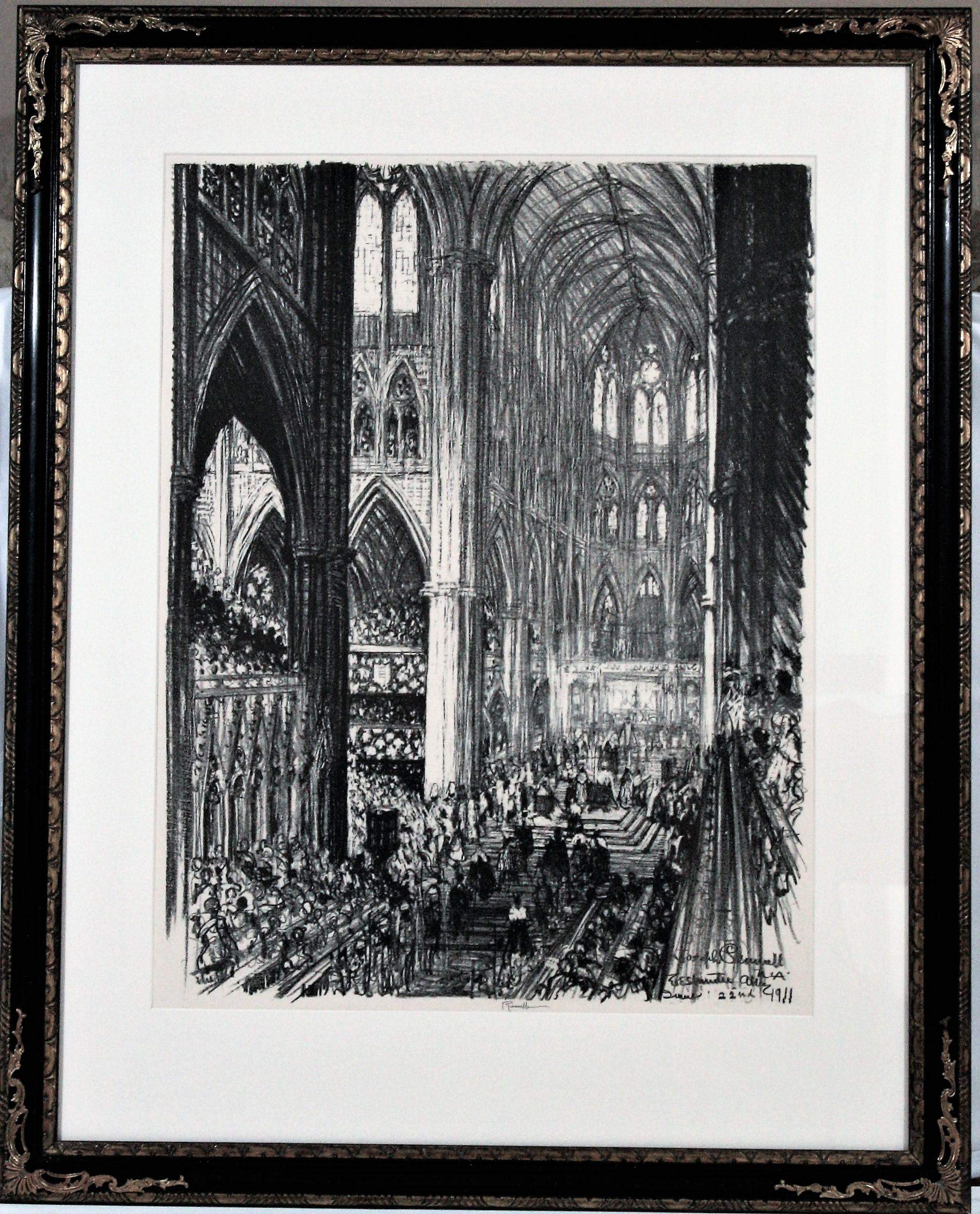 Coronation of King George V and Queen Mary in Westminster Abbey. June 22, 1911.