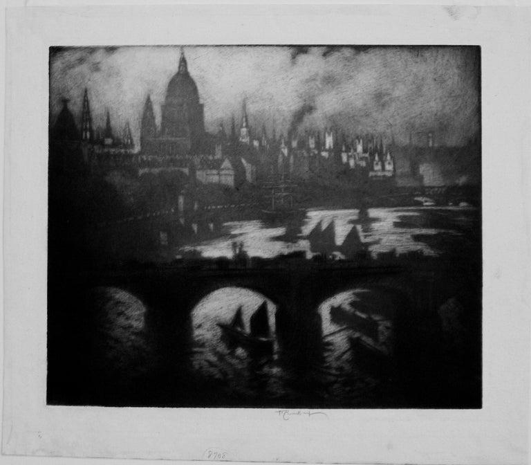 Wren's City - American Modern Print by Joseph Pennell