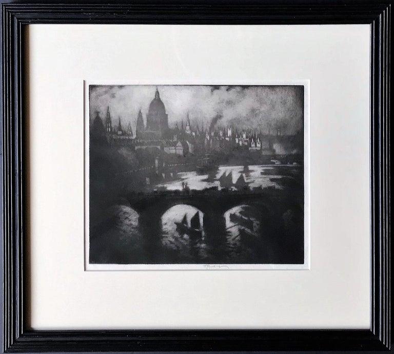 Joseph Pennell Landscape Print - Wren's City