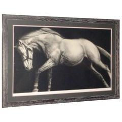 """Joseph Piccillo """"Edge Event I"""" 1982 Horse Lithograph, Numbered 11/45"""