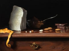 "Realist Still Life, ""Homemade Chocolate"", oil on linen on panel"