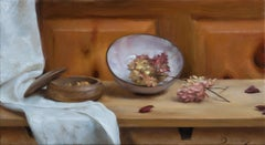 """Still Life with White and Pink Lilacs """"Old Friends"""" (Realism, Naturalism)"""