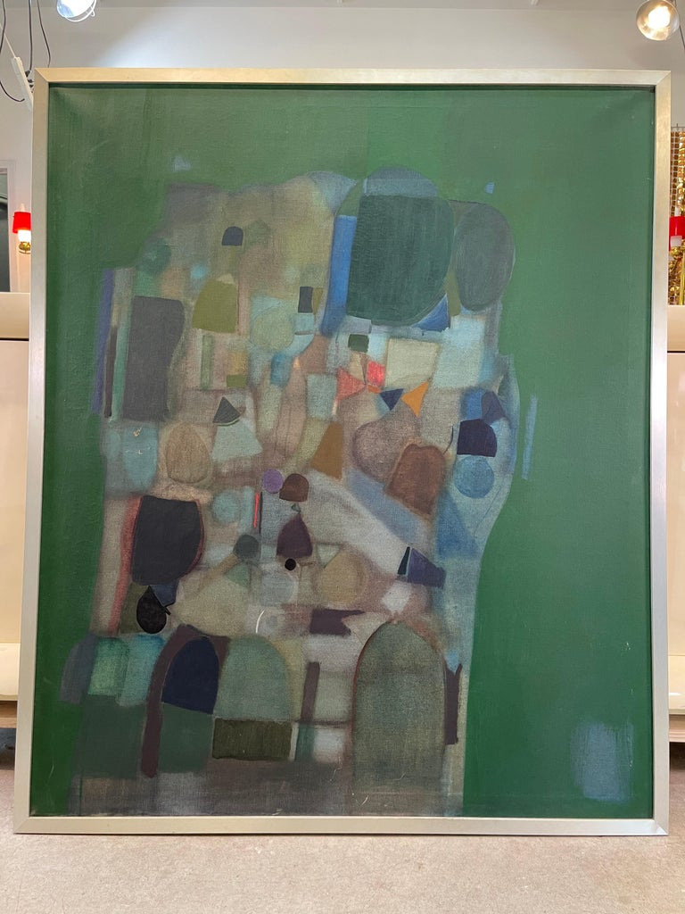 Joseph Raffaele, Abstract Oil on Canvas, 1958 For Sale 11