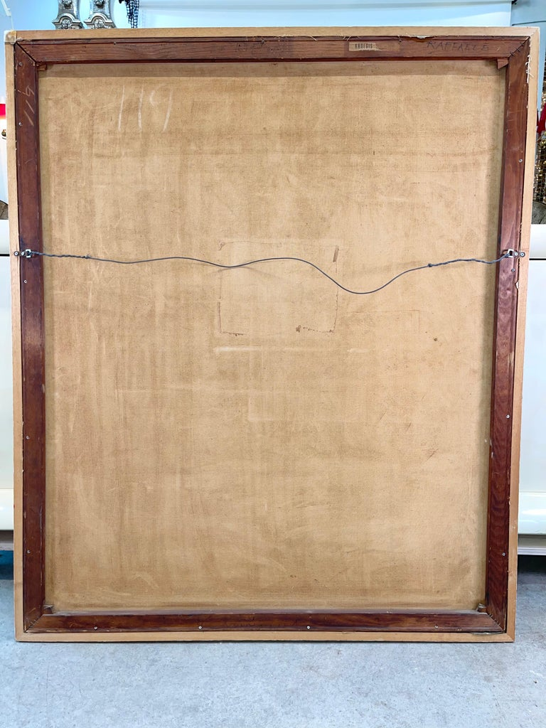 Joseph Raffaele, Abstract Oil on Canvas, 1958 In Good Condition For Sale In Hingham, MA