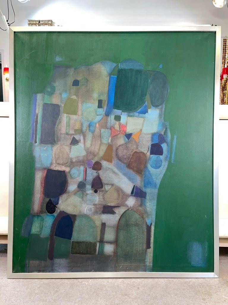 Mid-20th Century Joseph Raffaele, Abstract Oil on Canvas, 1958 For Sale