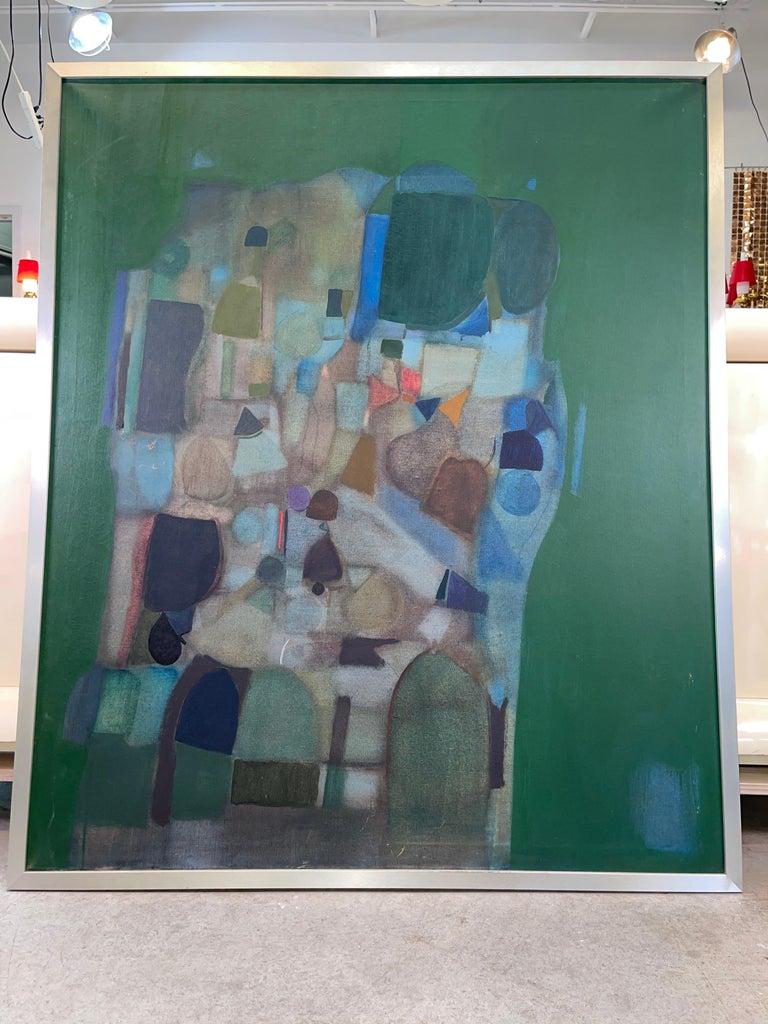 Joseph Raffaele, Abstract Oil on Canvas, 1958 For Sale 1