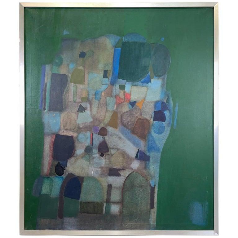 Joseph Raffaele, Abstract Oil on Canvas, 1958 For Sale