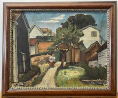 "Joseph Raskin ""Daily Chores"" Original Oil Painting C.1930"