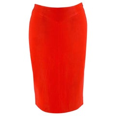 Joseph Red Leather Pencil Skirt - Size US2