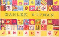 """Dahlke-Rozman, Exhibition Poster,"" Original Color Lithograph by Joseph Rozman"