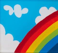 """Rainbow Pin,"" Serigraph Pin on Plexiglas signed by Joesph Rozman"