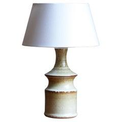 Joseph Simon, Table Lamp, Glazed Stoneware, Søholm, Bornholm, Denmark, 1960s