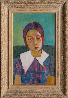 Barbara Begg, Expressionist Portrait by Joseph Solman