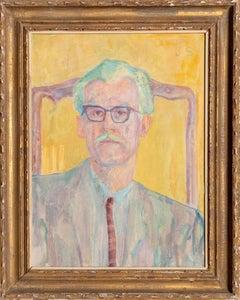 John Begg Sr., Expressionist Portrait by Joseph Solman