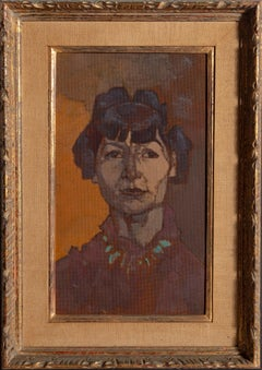 Marian Begg, Expressionist Portrait by Joseph Solman