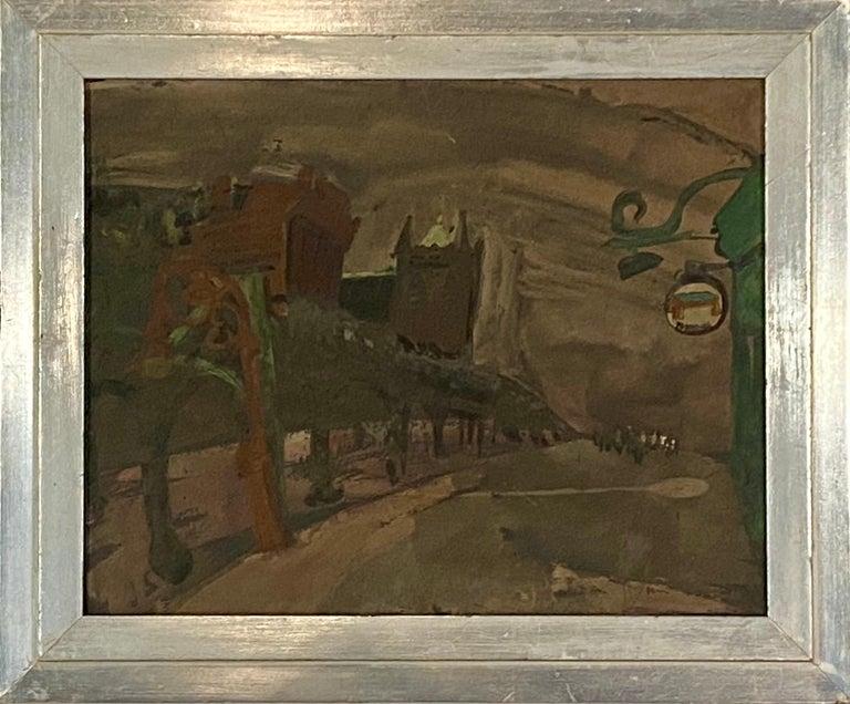 Joseph Solman Landscape Painting - New York Street -WPA American Scene Modern 20th Century NYC Industrial Cityscape