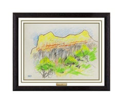 Joseph Stella Original Pastel Painting Authentic Color Landscape Modern Artwork