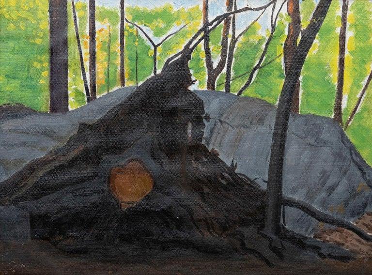 """Tree, Trunk, and Roots, New York"" Joseph Stella, American Modernism - Painting by Joseph Stella"