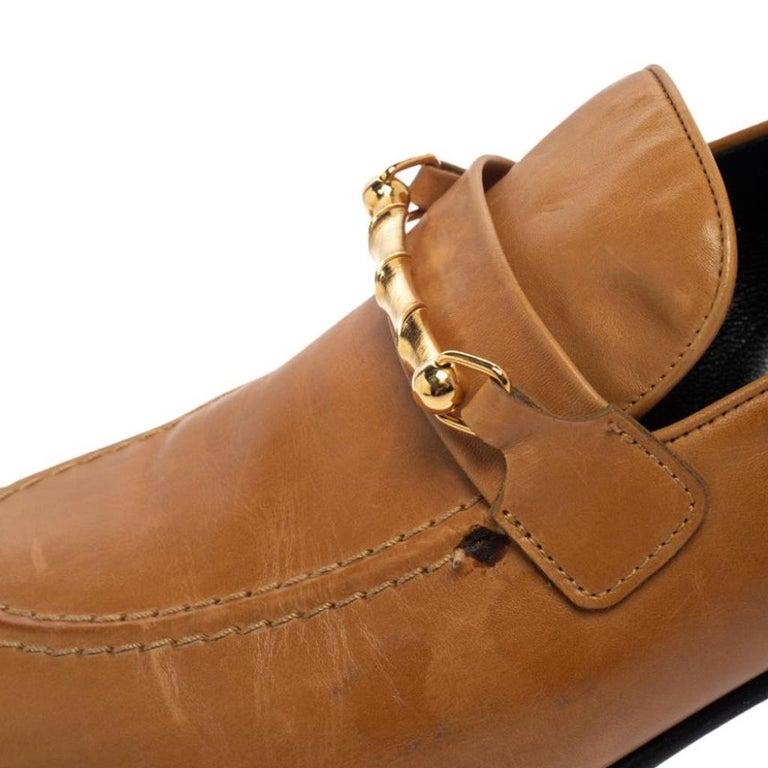 Joseph Tan Leather Embellished Slip On Loafers Size 39 3