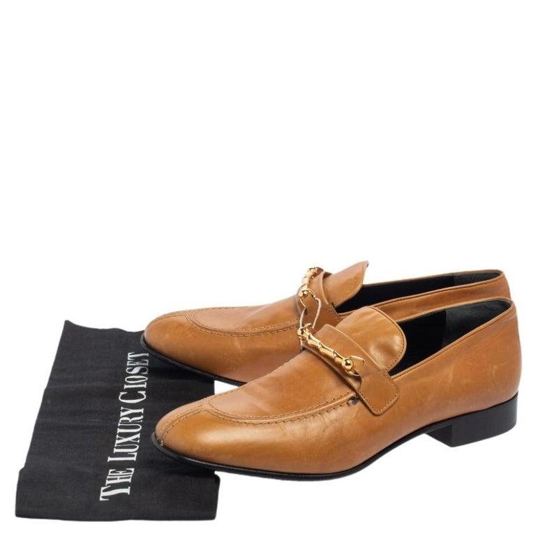 Joseph Tan Leather Embellished Slip On Loafers Size 39 4