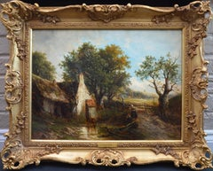 A Norfolk Stream - 19th Century English Landscape Oil Painting