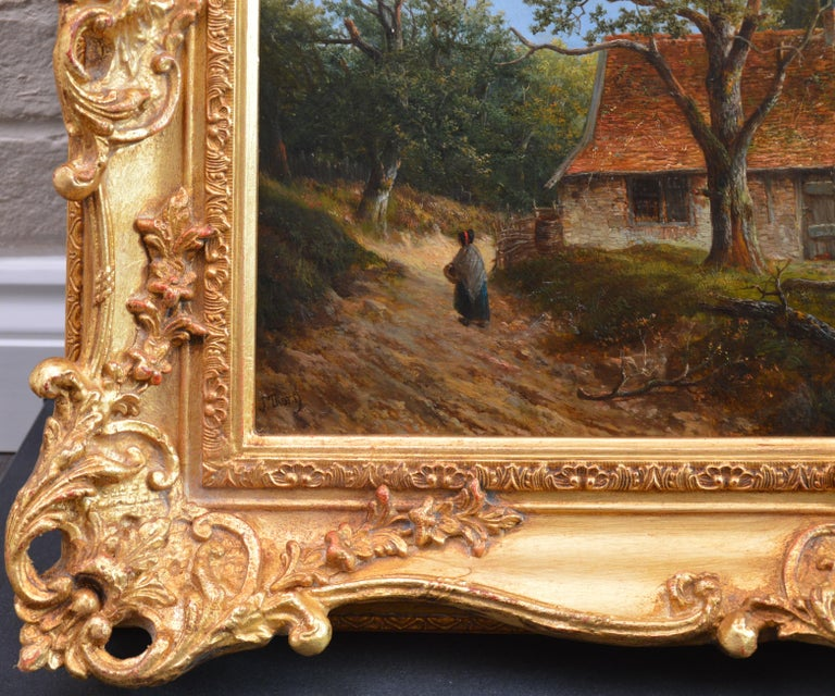 Near Stratford upon Avon - 19th Century Landscape Oil Painting 9