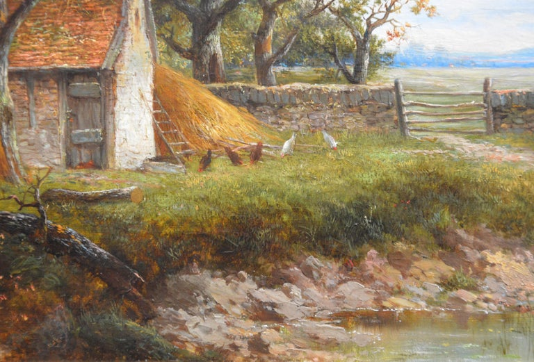 Near Stratford upon Avon - 19th Century Landscape Oil Painting 2