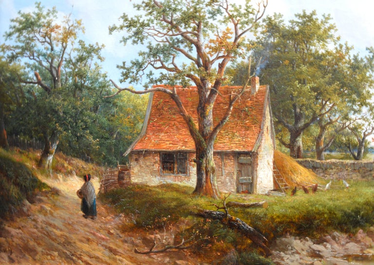 Near Stratford upon Avon - 19th Century Landscape Oil Painting 3