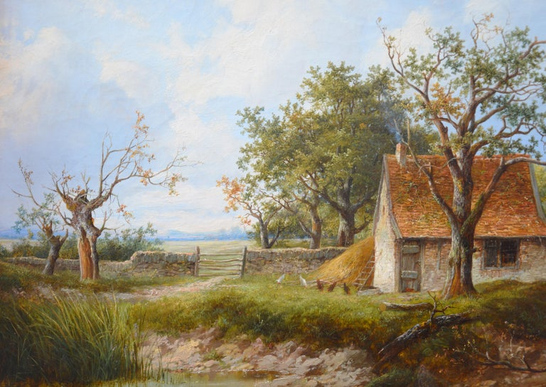 Near Stratford upon Avon - 19th Century Landscape Oil Painting 4