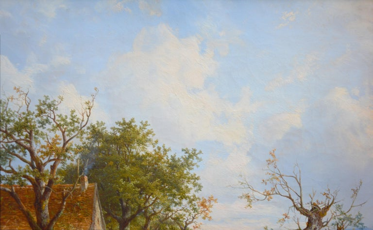 Near Stratford upon Avon - 19th Century Landscape Oil Painting 5